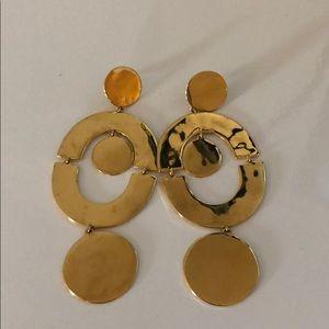 J. Crew Gold Statement Earrings